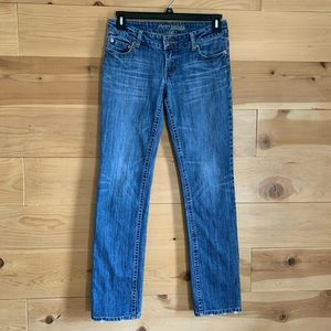 AEO American Eagle Straight 77 Med Wash Jeans 6